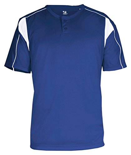 - Badger Sport B-Dry Pro Henley T-Shirt - 7937 - Royal / White - X-Large