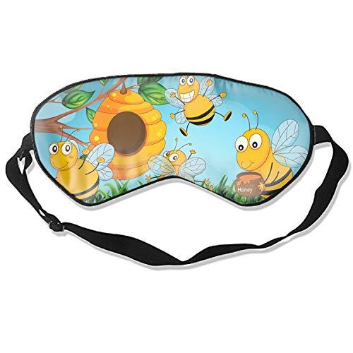 3D Sleep Mask,The Hornets Cartoon Eye Mask Custom Funny Design, Super Smooth Memory Foam, Maximum Light Blocking & Adjustable Strap]()
