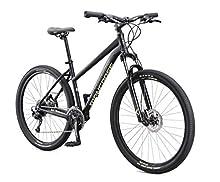 Mongoose Switchback Expert Adult Mountain Bike, 18 Speeds, 27.5-inch Wheels, Womens Aluminum Small Frame, Black