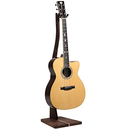 So There Wooden Guitar Stand - Handcrafted Solid Black Walnut Wood Floor Stands Best for Acoustic, Electric and Classical Guitars, Made in USA