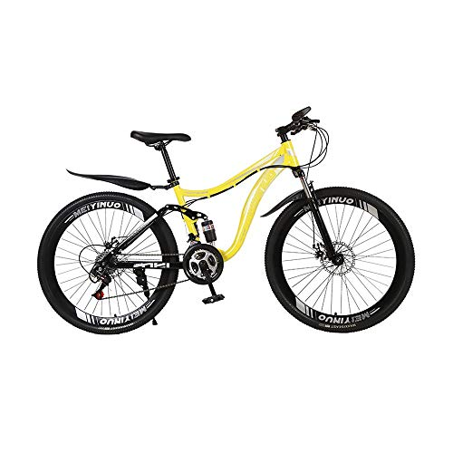KLYHCHN Mountain Bikes, 24-Speed Cross Country Soft Tail Mountain Bike, Carbon Steel Mountain Bicycle,Cross Country Road…