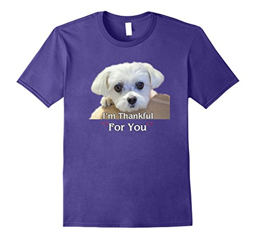 Maltese Dogs Lover T-Shirt Thanksgiving Love Gifts