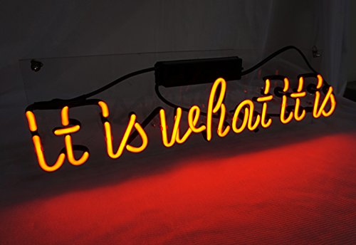 it is what it is 17 7 x 5 9 led neon light sign cool lamp light