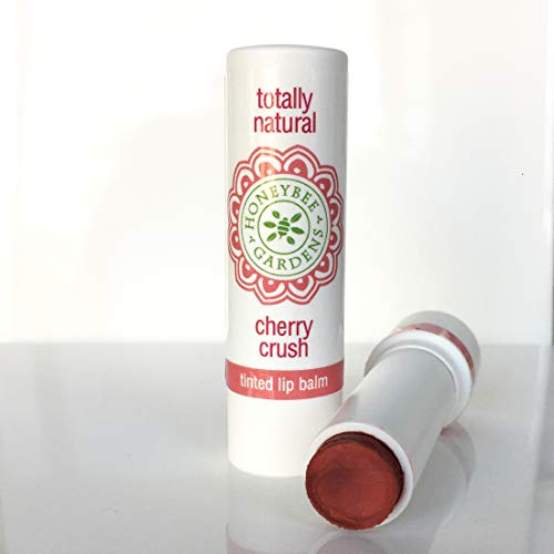 Honeybee Gardens Tinted Lip Balm (Cherry Crush) | Organic, Vegan, Gluten Free