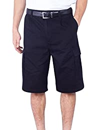 "<span class=""a-offscreen"">[Sponsored]</span>Mens Cargo Short Big & Tall Solid Long Loose Fit Solid Cotton Chino Shorts"