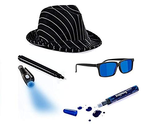 Tigerdoe Detective Costume - Spy Gear for Kids - Dress Up - Spy Costume Accessories (4 Pc) Black (Kids Spy For Costume Girls)