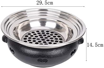 Guoguocy Grills électriques Barbecue, coréenne Ménage Smokeless Charbon Barbecue, Fonte du Corps du Four, Grille en Acier Inoxydable Grill,