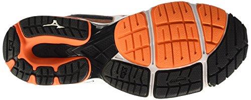 Mizuno Mens Wave Sayonara 3 Scarpe Da Corsa, Multicolore (vibrante Arancio / Argento / Nero), 41 Eu