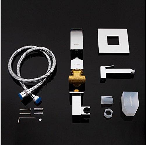 Gowe shower faucet wall mount bidet faucet Rainfall shower mixer tap muslim toilet sprayer bath shower set shower system 4