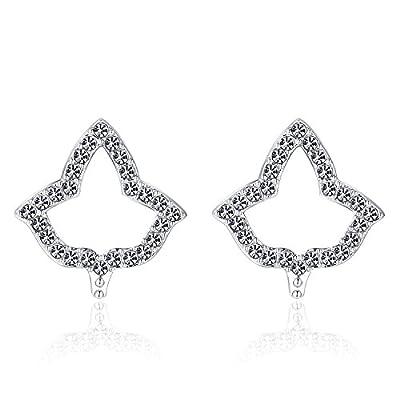Hot KINGSIN AKA Sorority Gifts Sliver Crystal Stud Earrings Dangle for Women Alpha Kappa Alpha Paraphernalia Jewelry hot sale