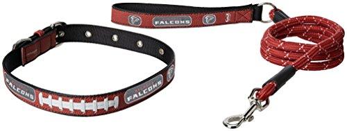 GameWear NFL Atlanta Falcons Pebble Grain Football Collar & Leash Gift Pack, Large, Brown ()