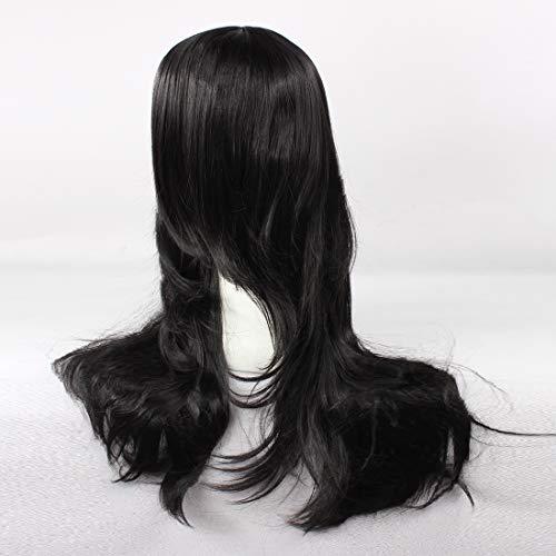 Amazon.com: HOOLAZA Peluca larga negra rizada Aoi Kunieda ...