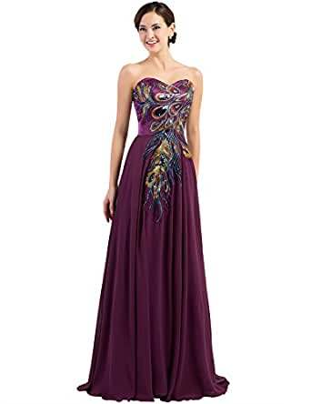 Amazon.com: GRACE KARIN Long Strapless Embroidery Prom