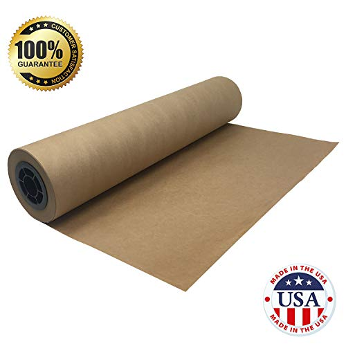 "Brown Butcher Kraft Paper Roll - 24 "" x 175' (2100"") Food Wrapping Paper for Beef Briskets - USA Made - All Natural FDA Approved Food Grade BBQ Meat Smoking Paper - Unbleached Unwaxed Uncoated Sheet by tenderlicious (Image #3)"