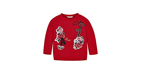 Amazon.com: Mayoral 18-04462-082 - Pullover for Girls 8 Years Red: Clothing