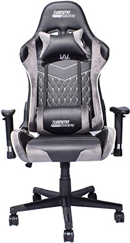 Turismo Racing Tridente Series LED Gaming Chair Big and Tall - Black on office chair with drink holder, beds for big guys, lift chairs for big guys,
