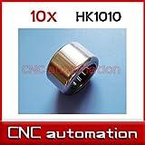 Ochoos 10pcs HK1010 10x14x10 TLA1010Z RHNA101410 Needle Bearings 10mm/14mm/10mm for 10mm Shaft