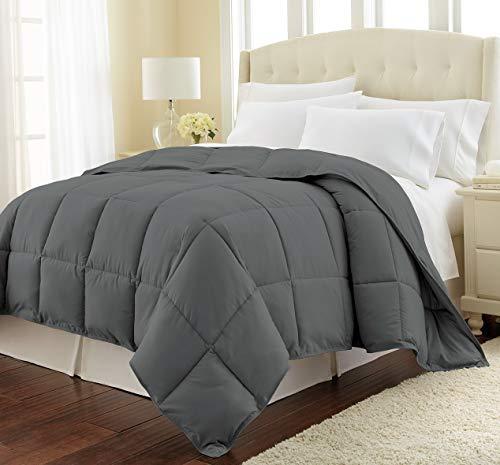 - Hemau Premium New Soft Southshore Fine Linens - Vilno Springs - Down Alternate Medium Weight Comforter - Slate, King/California King | Style 503194367