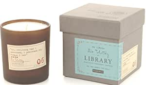 Paddywax Candles Library Collection Leo Tolstoy Soy Wax Candle, 6.5-Ounce (Black Plum, Persimmon, Oakmoss)