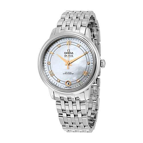 Watch Womens 20 Diamonds (Omega De Ville Mother of Pearl Diamond Stainless Steel Ladies Watch 424.10.33.20.55.002)