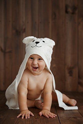 Bimboly Extra Soft Baby Bamboo & Cotton Hooded Towel + Bonus Bath ...
