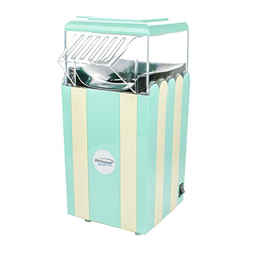 Brentwood PC-488BL Classic Striped 8-Cup Hot Air Popcorn Maker, Blue