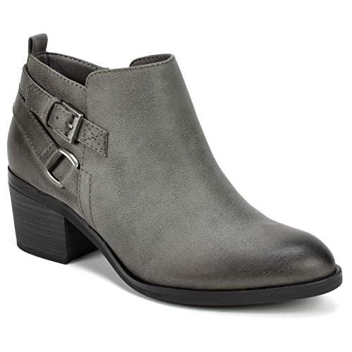 Ankle Boot Mountain Womens - WHITE MOUNTAIN Shoes Samia Women's Bootie, Grey/Fabric, 8H M