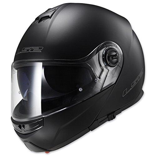 - LS2 Helmets Strobe Solid Modular Motorcycle Helmet with Sunshield (Matte Black, Small)