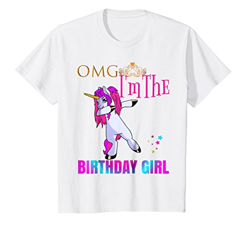 Kids Cute Dancing Omg Dabbing Unicorn Birthday Gi The Best Amazon