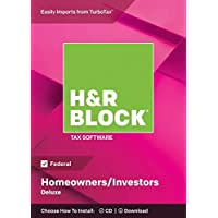 Deals on H&R BLOCK Tax Software Deluxe 2018, Federal + $5 Newegg GC