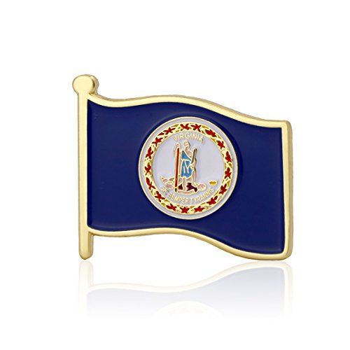 Virginia Flag Lapel Pin - GS-JJ Virginia Flag Enamel Lapel Pin (5 Pack)