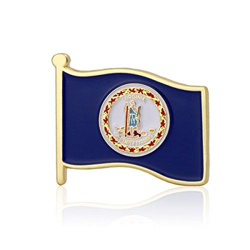 GS-JJ Virginia Flag Enamel Lapel Pin (1 Piece)
