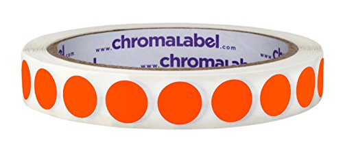 Inventory ½ inch Removable Labels for Warehouses and Storage (Fluorescent Red-Orange)
