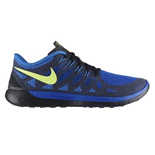 Nike Men's Free 5.0 Hyper Cobalt/Volt/Pht Blue/Blk Running Shoe 9.5 Men US