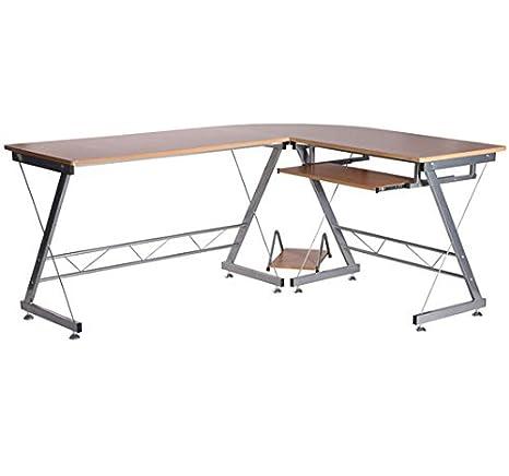 Escritorio de esquina para ordenador, mesa para ordenador, mesa de ...