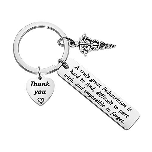 TGBJE Pediatrician Gift A Truly Great Pediatrician is Hard to Find Keychain Thank You Gift Pediatric Nurse Gift Doctor Gift (Pediatrician Gift)