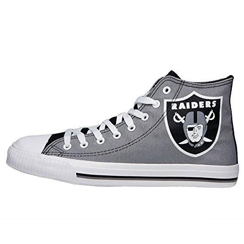 (FOCO NFL Mens High Top Big Logo Canvas Shoe - Mens, Oakland Raiders, Medium)