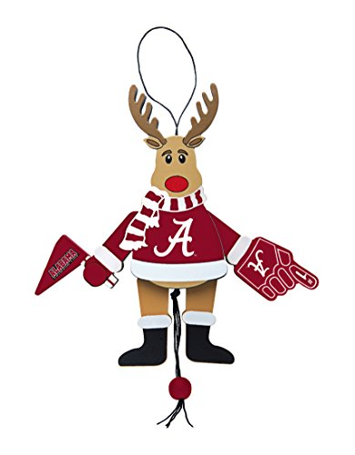 NCAA Alabama Crimson Tide Wooden Cheer Ornament College Football Christmas Ornament