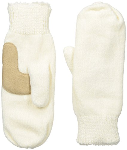 - Isotoner Women's Chenille Mittens with Boomerang Palm Patch and Micro Luxe Lining, Ivory, One Size