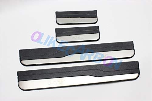 (For Honda FIT OEM Door Sill Scuff Plate Guard Sills Protector Trim 2014-2016 )
