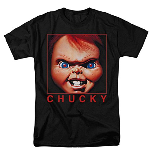 Child's Play Movie Chucky T-shirt Mens Black Large