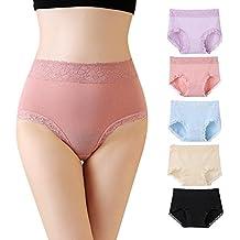 Mryumi Women Lace Panties Sexy Lingerie Cotton Underwear 5 Pack waist Briefs