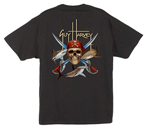 (Guy Harvey Men's Pirate Shark T-Shirt)