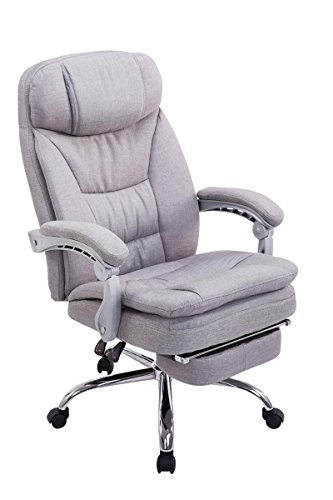 Emarkooz Swivel Desk Chair Manager Boss Office Chair High Back Executive Fabric Chair Recliner Extra Padded Computer Chair Heavy Duty Ergonomic Office Chair Multi Function Mechanism Gray Buy Online In Isle Of Man At