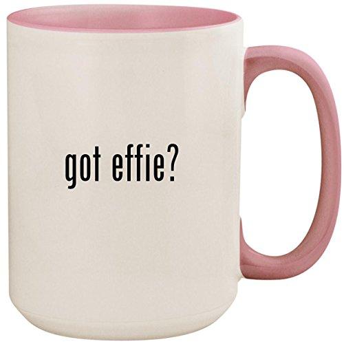 got effie? - 15oz Ceramic Colored Inside and Handle Coffee Mug Cup, -