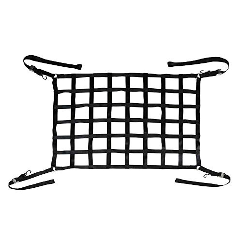 Short Bed Pickup Truck Cargo Net with Cam Buckles and S-Hooks | 66 inch x 50 inch Truck Bed Net - Cam Pickup