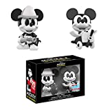 Mini Vinyl Figure: Disney - Black and White Firefighter and Plane Crazy Mickey Mouse 2 Pack, Fall Convention Exclusive