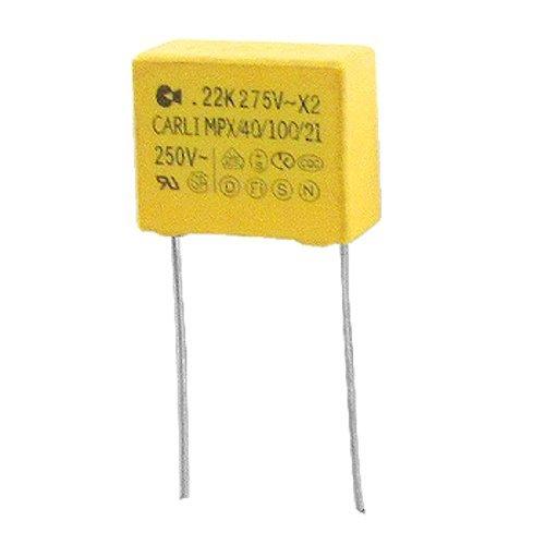 MPX eDealMax 10 piezas de AC 275V 0.22uF polipropileno pel/ícula de seguridad Condensadores