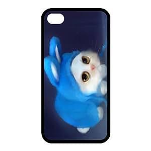 Custom Cat Back case for iphone4,4S JN4S-296 by rushername