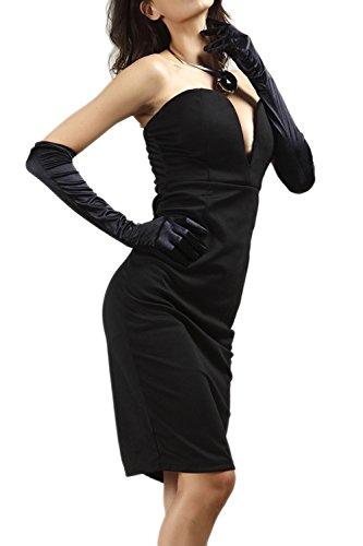 Damen tief Vneck trägerlosen Abendkleid Cocktail
